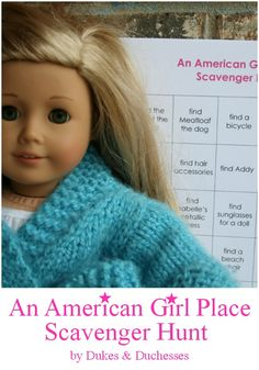 A printable scavenger hunt for the American Girl store