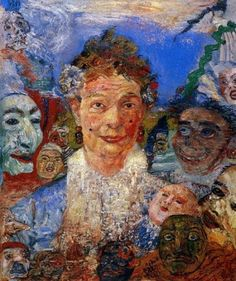 James  Ensor, y sus obras las cuales se enfocaban en la muerte y personajes con mascaras