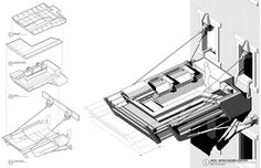 "n-architektur: "" Mobile Suburbia Aaron Berman Architecture "" Tectonic Architecture, Parasitic Architecture, Mobile Architecture, Conceptual Architecture, Architecture Student, Axonometric Drawing, High Rise Apartments, Student Problems, Form Design"