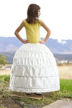 A HOOP SKIRT (...a sturdy and inexpensive version)