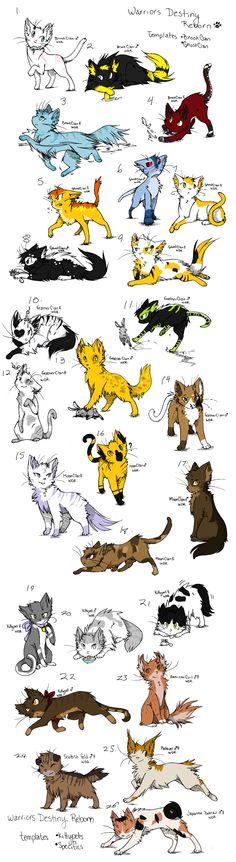 Warrior Cat Adoptables Batch 2! by WolfPlayerAdopts.deviantart.com on @deviantART