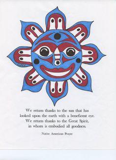 Happy Sun by NativeWorldPrints on Etsy