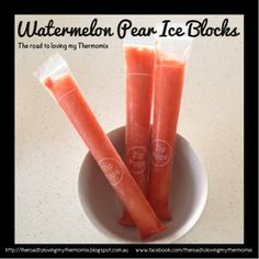 Watermelon pear ice blocks