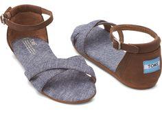 Blue Chambray Women's Correa Sandals | TOMS  #sandals #womens