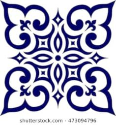 Geometric Islamic Pattern Arabesque blue and white., Geometric Islamic Pattern Arabesque blue and white. Geometric Islamic Pattern Arabesque blue and white. Stencil Patterns, Stencil Designs, Tile Patterns, Embroidery Patterns, Islamic Tiles, Islamic Art, Motif Arabesque, Stencils, Arts And Crafts