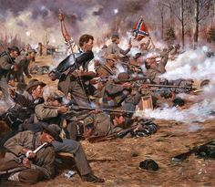 ACW Confederate: 'The Grey Wall', by Don Troiani. (www.dontroiani.com)