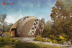 Народный купольный ЭКО-дом «Vitamin-Z» 87 м2