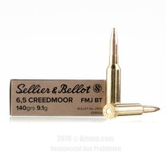 Sellier and Bellot 6.5 Creedmoor Ammo - 500 Rounds of 140 Grain FMJ-BT Ammunition