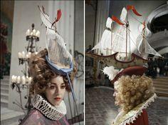 And as a hat!   sailing ship hats by Eiko Ishioka