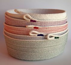 You are looking at a 100% cotton rope basket created by myself.  This is so far my largest for sale.    Im using my industrial sewing machine and a zig
