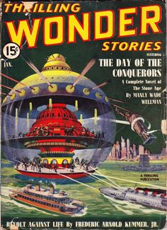 Howard V. Brown's cover for the January 1940 issue of Thrilling Wonder Stories