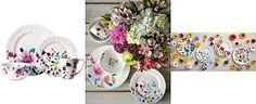 Kim Parker 16-Pc. Meadow Violet Dinnerware Set