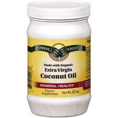 Spring Valley Extra Virgin Coconut Oil, Solid, 12 oz
