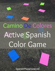 Spanish Color Game: Camino De Colores - Spanish Playground