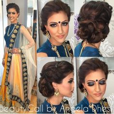 indian engagment hairstyle