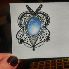 #gem #doodle #doodleoftheday #blue #zendoodle #zentanglemania #zentangle