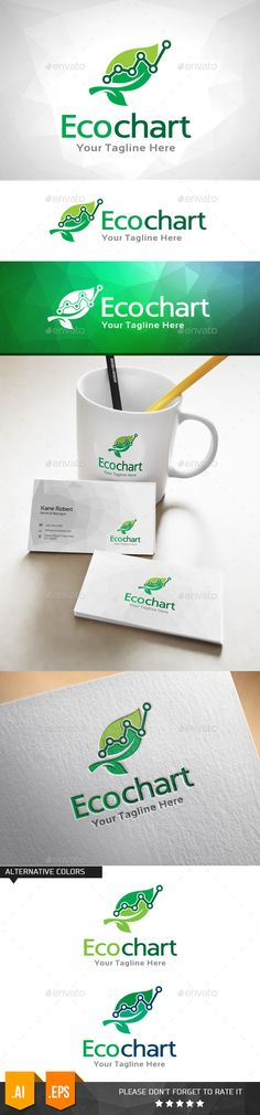 Eco Chart - Logo Design Template Vector #logotype Download it here: http://graphicriver.net/item/eco-chart-logo-template/11031984?s_rank=1030?ref=nexion