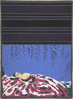 "Erté (Romain de Tirtoff) (French (born Russia), 1892–1990). ""Neige de Printemps"": Cover Design for Harper's Bazaar, 1923. The Metropolitan Museum of Art, New York. Purchase, The Martin Foundation Inc. Gift, 1967 (67.762.91)"
