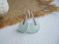 Dangle Earrings – Scottish sea glass sterling silver earring – a unique product by TiliabytheSea on DaWanda