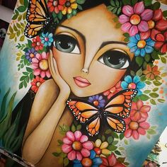 Indian Art Paintings, Art Drawings Sketches Simple, Color Pencil Art, Arte Pop, Butterfly Art, Mandala Art, Face Art, Whimsical Art, Creative Art