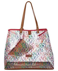 e7c05a8cf0e Clearly, a see-through tote is the perfect beach bag. Nine West Handbag