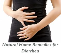 Natural Home Remedies for Diarrhea