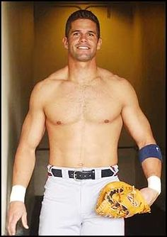 Atlanta Braves baseball player Javy Lopez--My FAVORITE player...... I have a thing for catchers... B- McCann ;-)