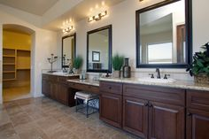 Do you feel like there just isn't enough counter space in your bathroom? Here are 20 master bathrooms with double sink vanities.