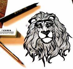 #illustration #leo #ink