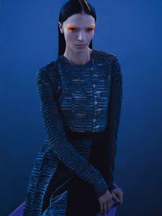 Mariacarla Boscono - Blue Note - Vogue Paris 2014 Mert Alas, Marcus Piggott @art_partner via @VogueParis  for #color #makeup