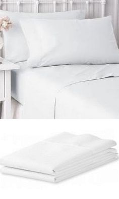 Bed And Bath 48758: 12 New Bright White Hotel Pillow Cases Covers Standard  Size 20