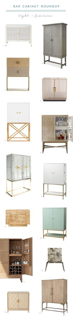 stylish bar cabinet roundup from coco kelley | light and feminine
