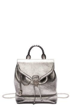 ALEXANDER MCQUEEN 'Skull' Leather Backpack. #alexandermcqueen #bags #leather #crystal #backpacks