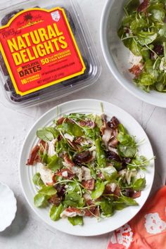 Chicken Bacon Cheddar Salad with Medjool Dates - 11 SPts for 6 svgs. Reduce bacon to 1/4 lb for 9 SPts.