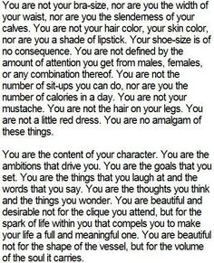 I don't normally care about these sort of things....but I really thought this one was thoughtful and good to read.