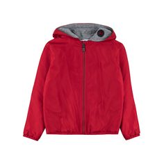 8109b1646067 YOUNG VERSACE Baby Boys Hooded Rain Jacket - Red Baby hooded jacket • Soft  woven fabric