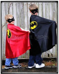 Childrens Custom Made Handmade Superhero BLACK and by magicalcapes