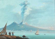 Éruption de 1822 Gouache, XIXe siècle, école Napolitaine