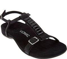 f7533d435c3 Vionic Orthotic Embellished T-strap Sandals - Navassa