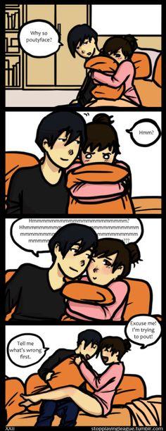My boyfriend always disrupts my pouting. >xT