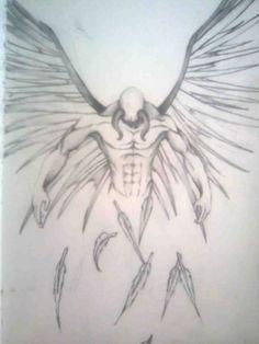 fallen angel tattoo drawing design idea   Tattoos I Like   Pinterest