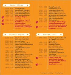 For all the devotees joining in the #10yBM celebrations this weekend, here is the schedule.