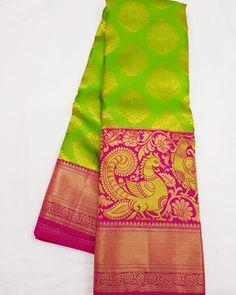 No photo description available. Kanjivaram Sarees Silk, Crepe Silk Sarees, Banarsi Saree, Pure Silk Sarees, Kanchipuram Saree, Latest Silk Sarees, Traditional Silk Saree, Stylish Blouse Design, Wedding Silk Saree
