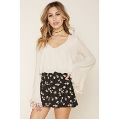 Forever 21 Women's  Floral High-Waisted Shorts ($15) ❤ liked on Polyvore featuring shorts, high rise shorts, flower print shorts, high-rise shorts, forever 21 and floral printed shorts