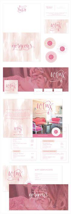 Brand Launch: Winx Lash & Makeup Studio - Salted Ink Design Co.   branding, brand stylist, brand styling, print material, modern calligraphy, hand lettered   www.saltedink.com