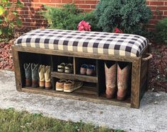 Entryway bench - Shoe bench - Shoe rack - Storage bench - Shoe storage - 48x16x21