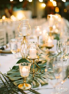 Modern Green & Gold Palm Springs Wedding - Inspired By This