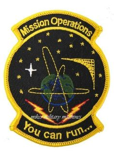 USAF Air Force Military Black Ops Area 51 Onyx Satellite You Can Run NRO Patch