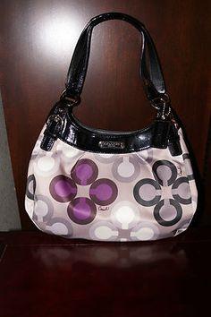 Coach Soho Multicolor Hobo Bag 19831 Purple Grey Patent Black with Wallet | eBay