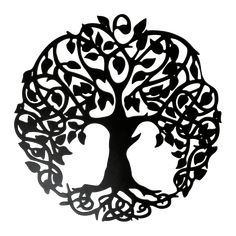 "This hand crafted Tree of Life comes in 4 sizes, ranging from 16 inches wide and 16 inches tall, to 30""x30"". It is Laser Cut from Premium Pickled & Oiled 14 gauge metal which is about the thickness of a nickel and powder coated with a low gloss mini textured exterior black finish and can be used inside or outside. We use state of the art Fiber Optic Laser to cut all of our products!. This and All our products are made here in the USA and by American workers."